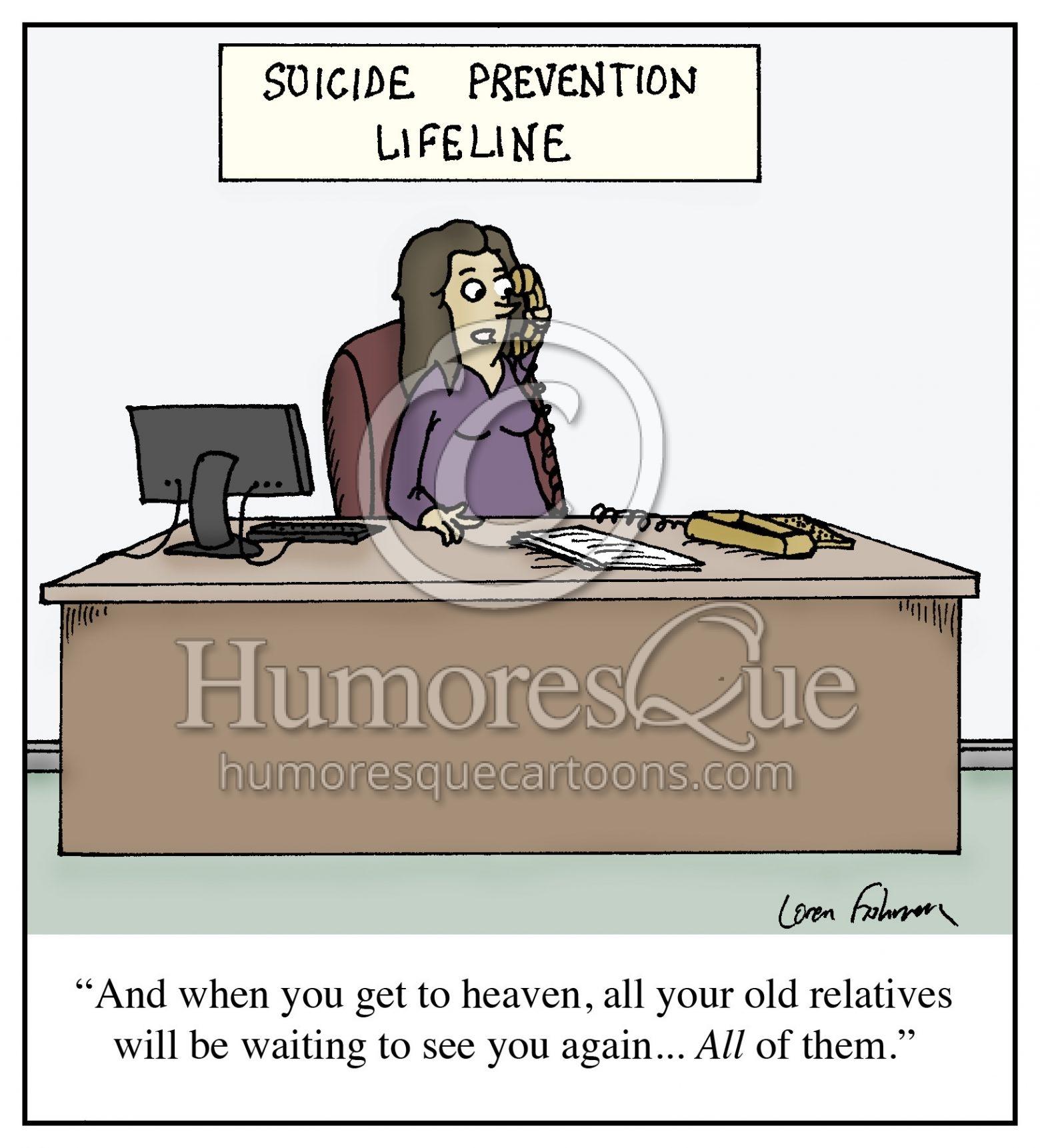 suicide prevention hotline cartoon