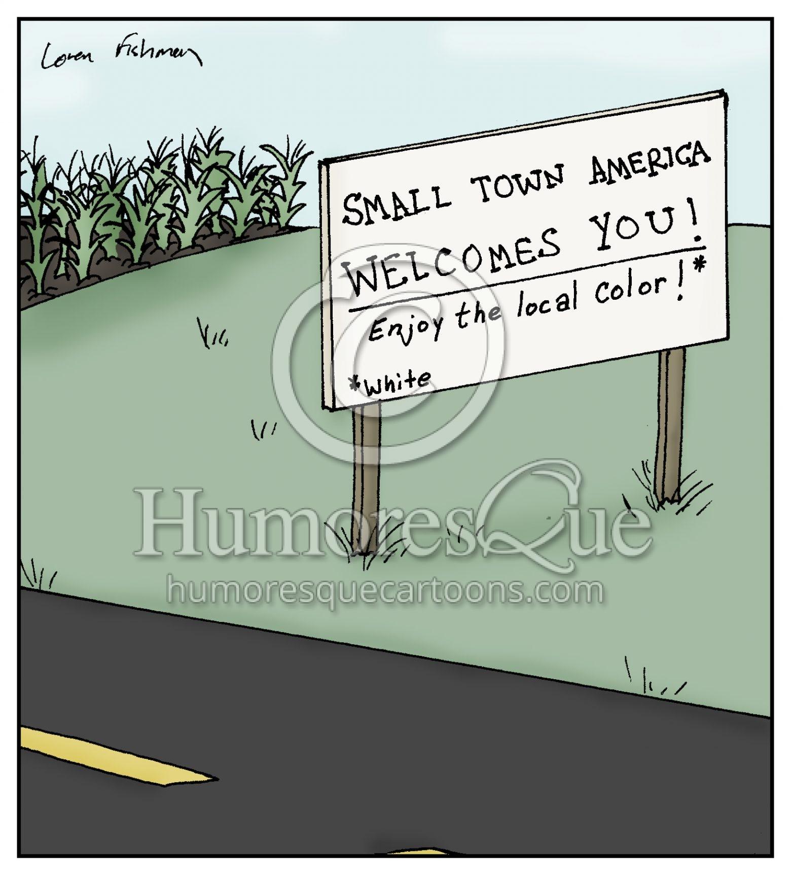 small town america white people cartoon