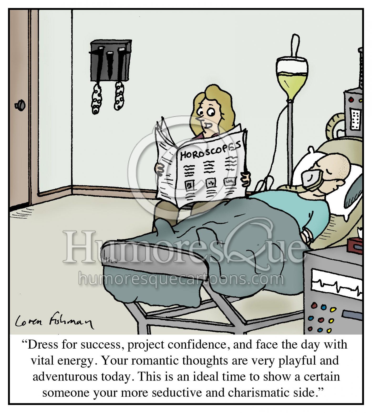 horoscope astrology coma patient cartoon