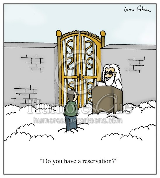 Reservation for heaven cartoon