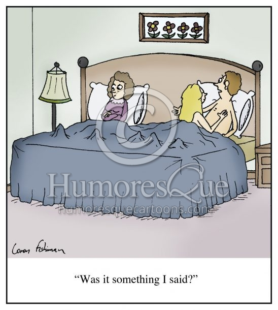 was it something i said clueless cheating husband cartoon