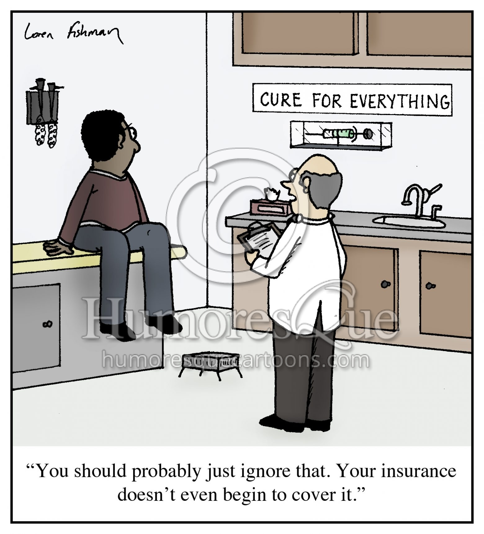 cure for everything doctors and insurance provider cartoon