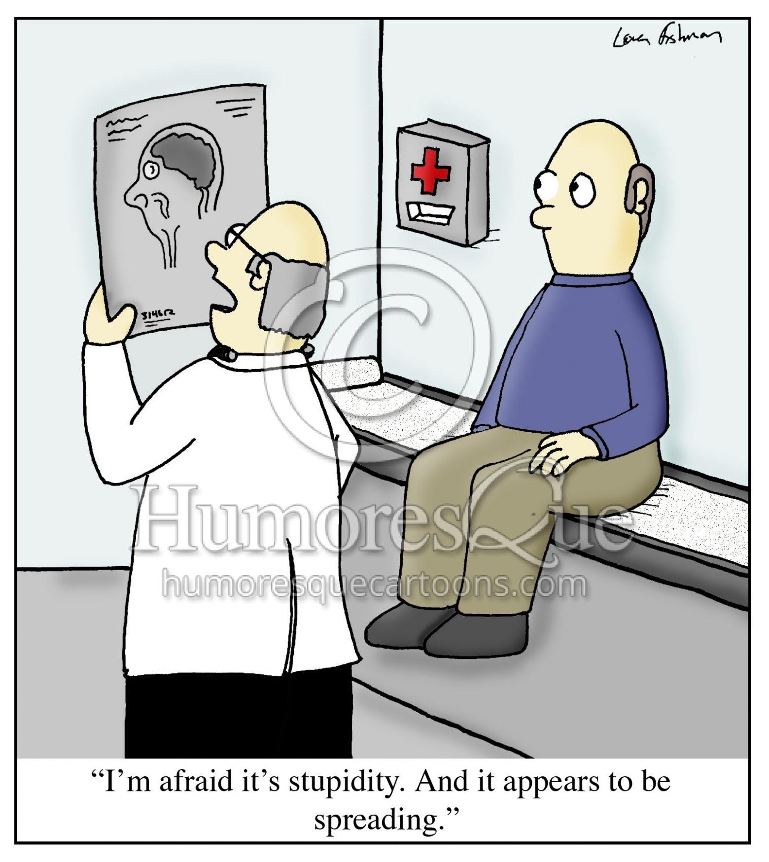 stupidity spreading medical cartoon