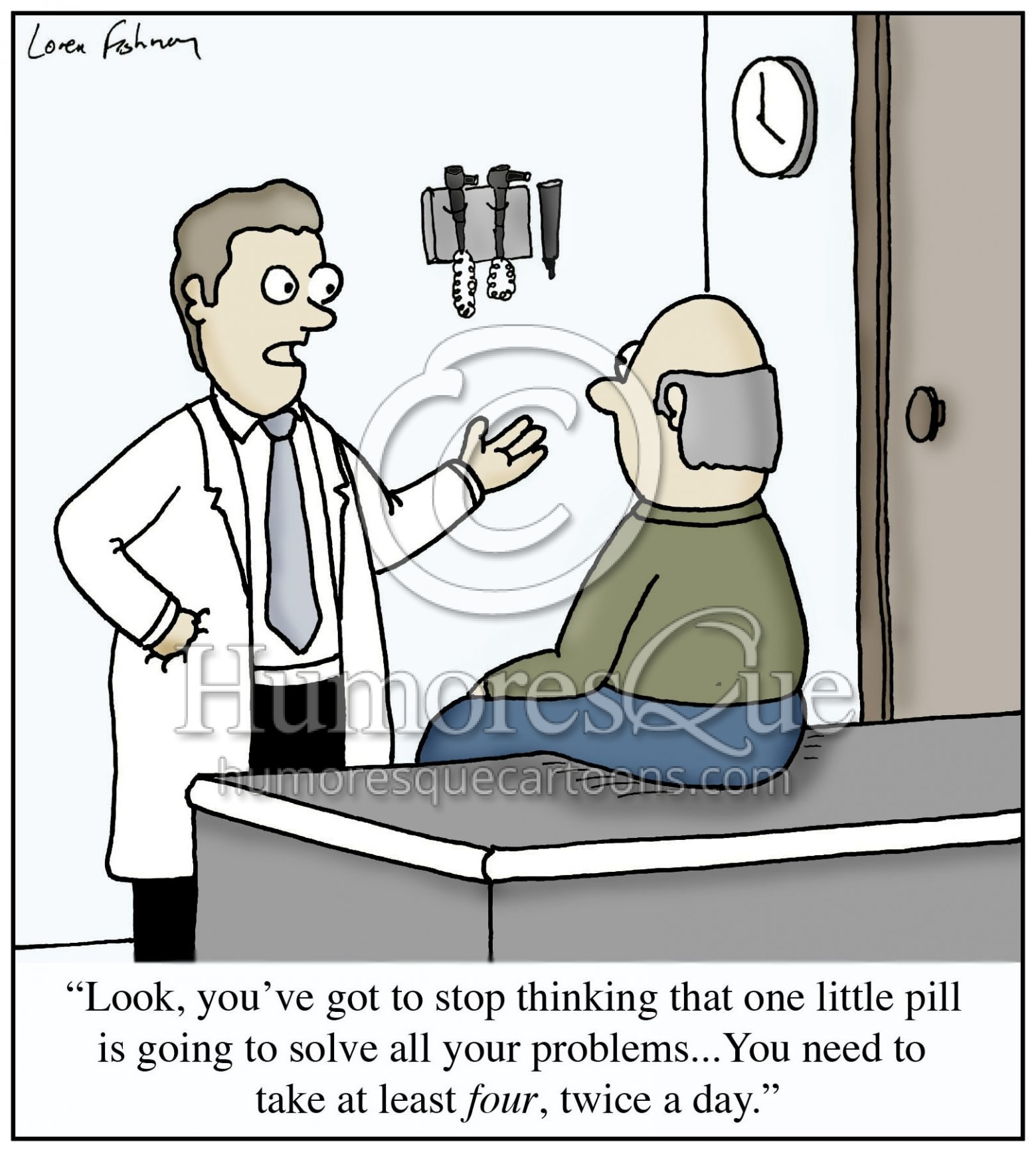 prescription drugs medical cartoon