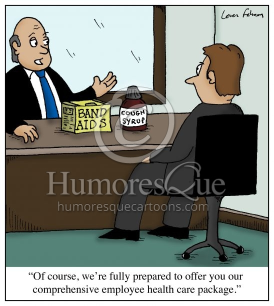 employer health care cartoon