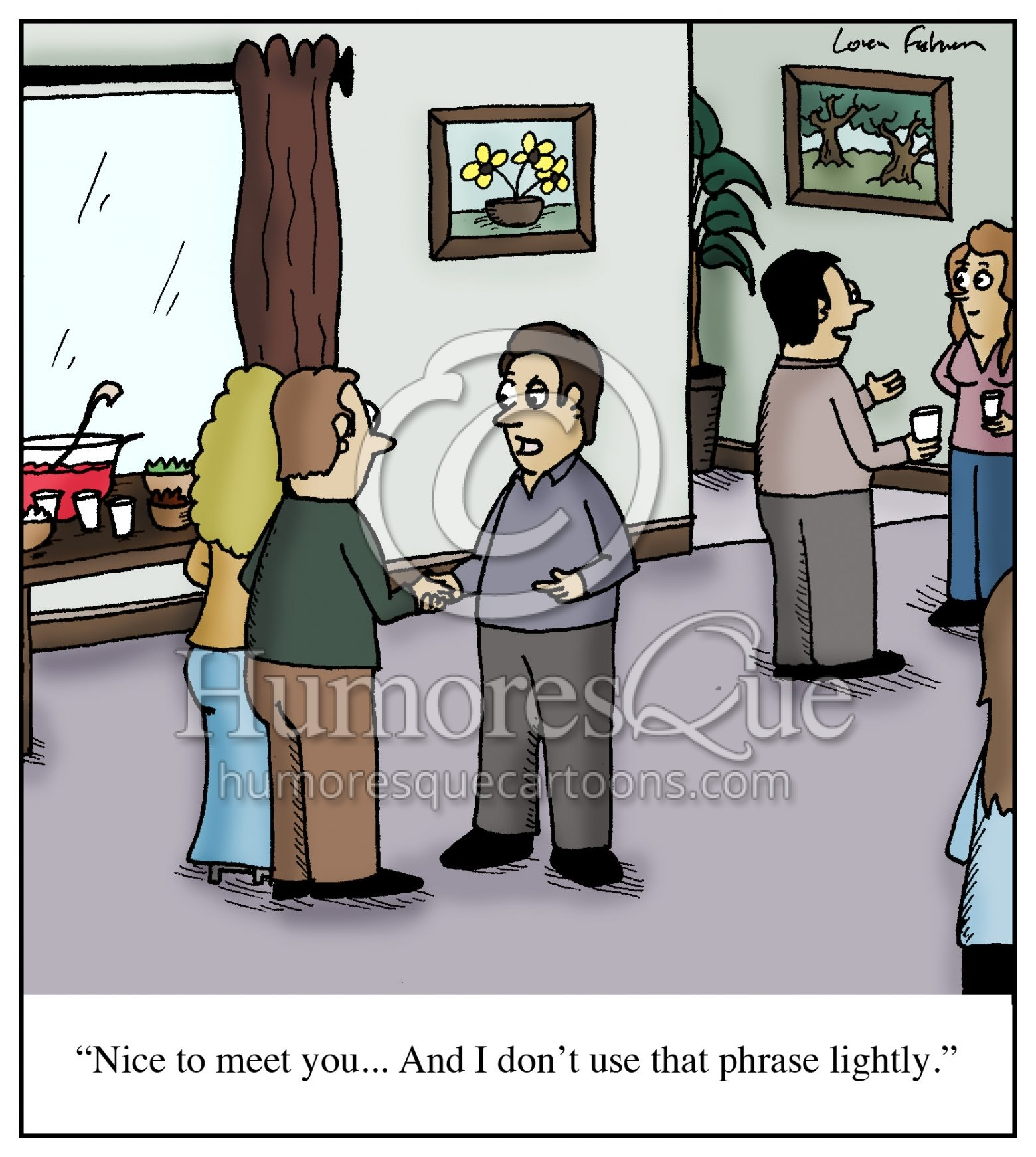nice to meet you small talk cartoon