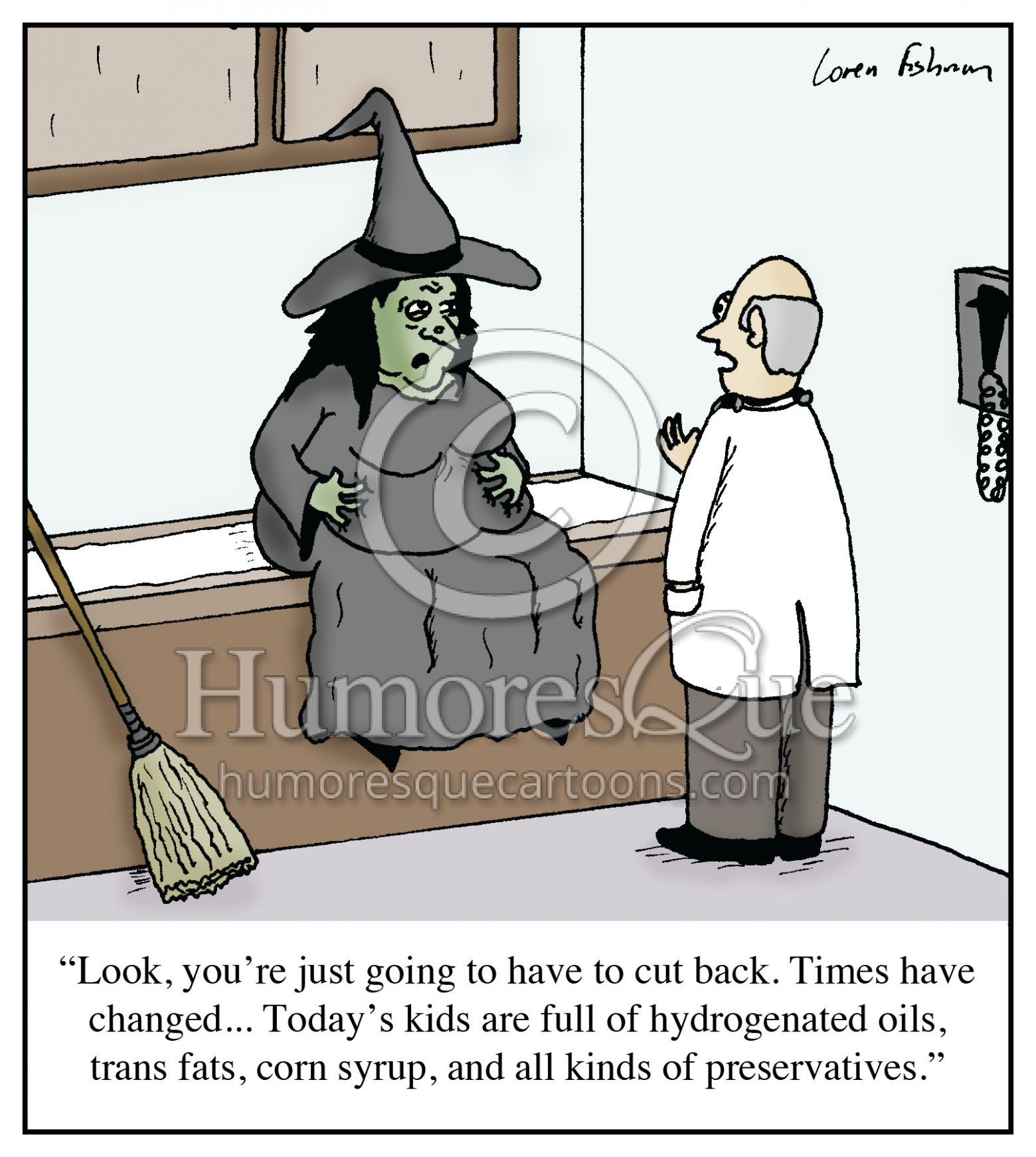 witch nutrition diet cartoon