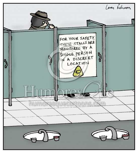 government surveillance monitoring cartoon
