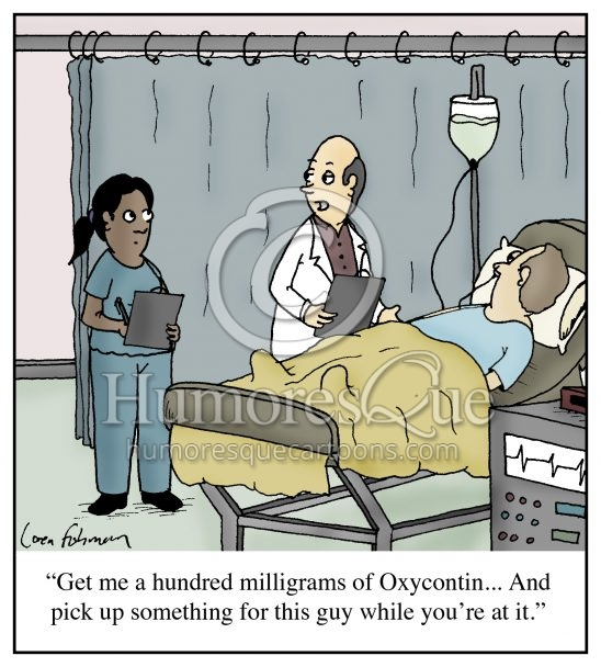 opioid epidemic doctor cartoon