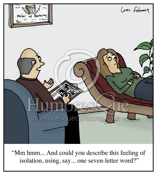 psychiatrist crossword puzzle patient cartoon