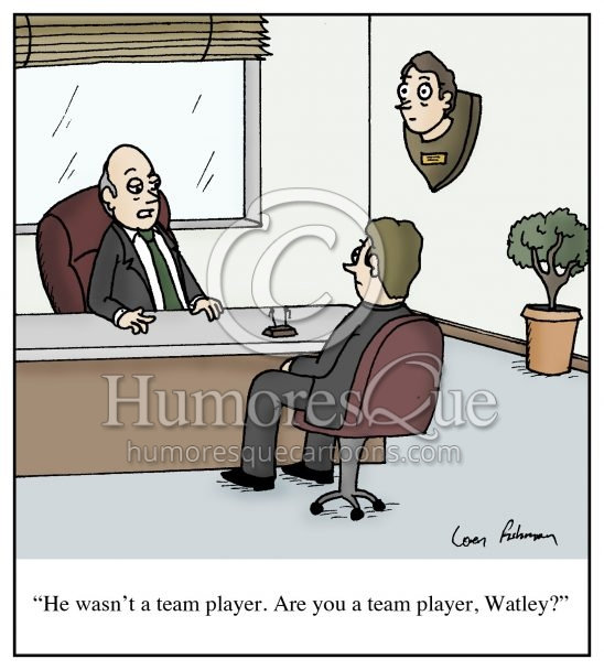 team player taxidermy boss cartoon