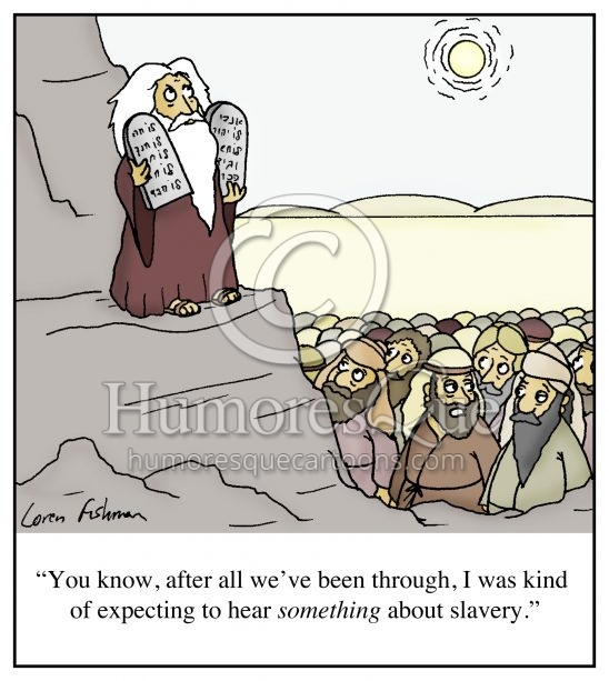 slavery in ten commandments cartoon