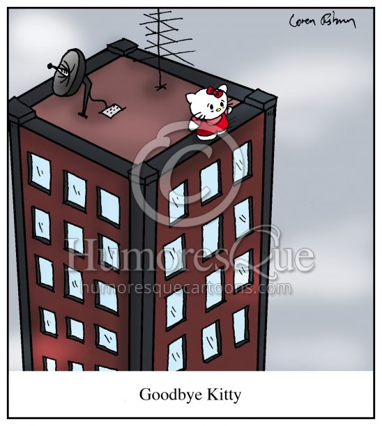 Goodbye Kitty Suicide of Hello Kitty Cartoon