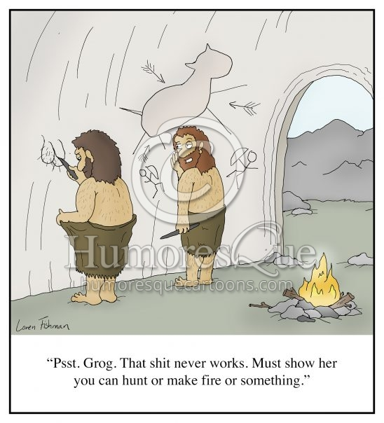 cave man text dick pic sex advice men cartoon