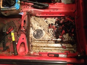 Removing Sound Dampener VW