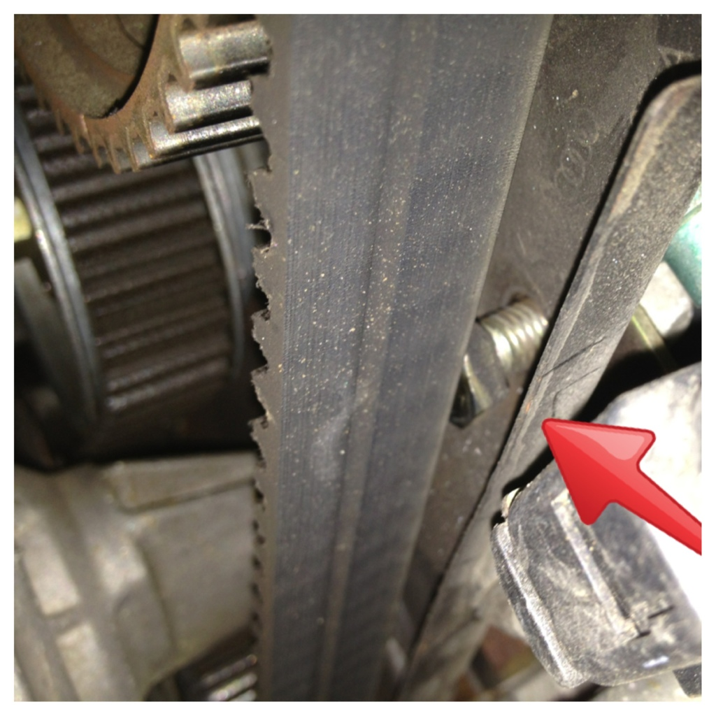 Broken VW Timing Belt almost