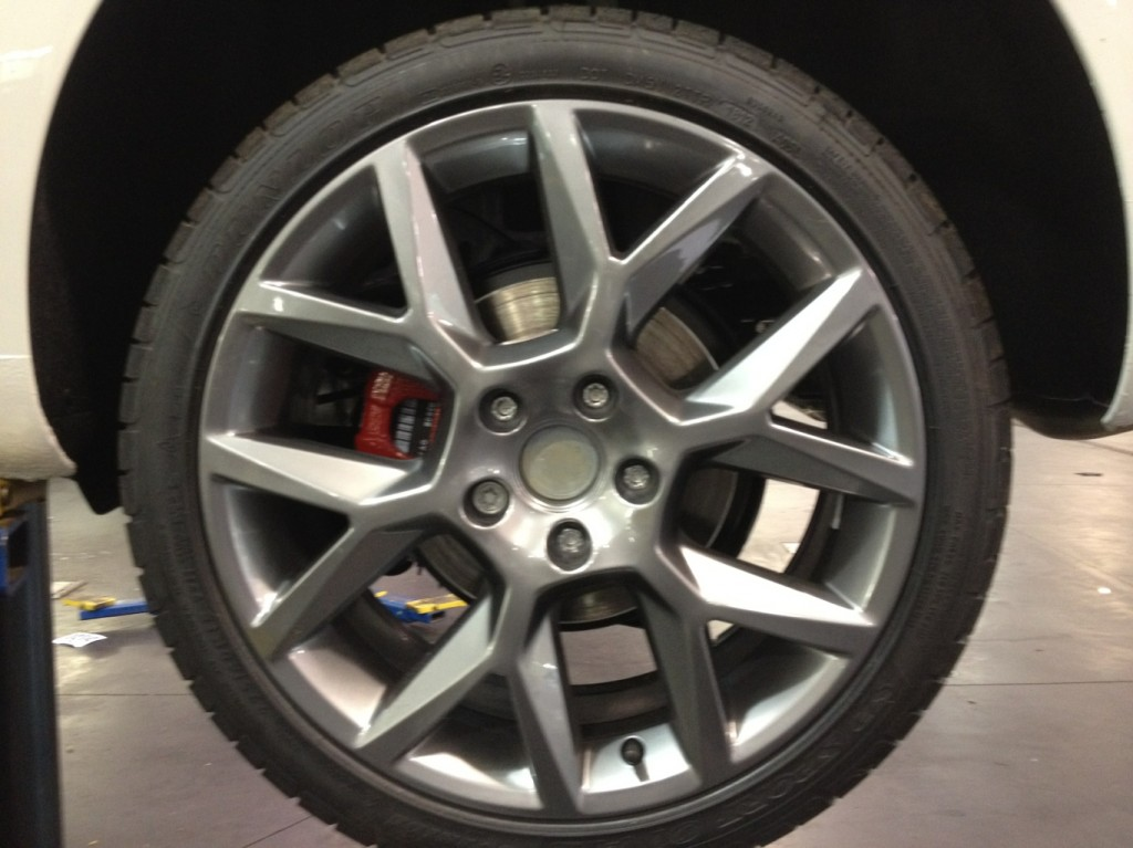Auto mechanic Shop pictures new VW wheels