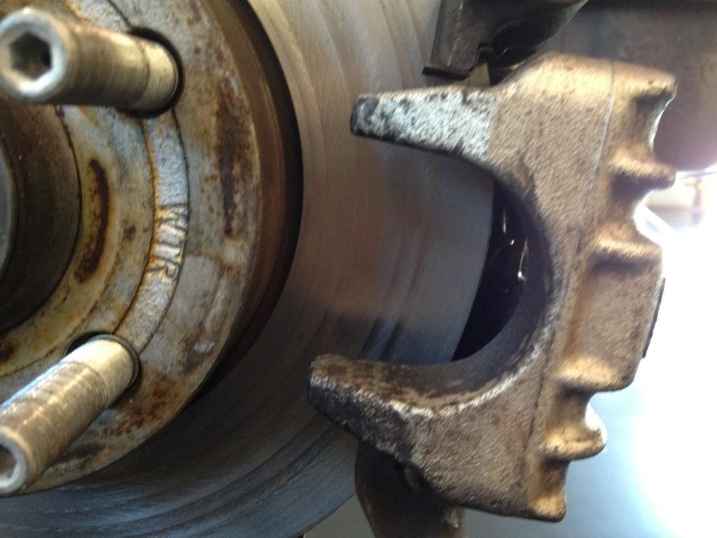 Failing VW rear brakes