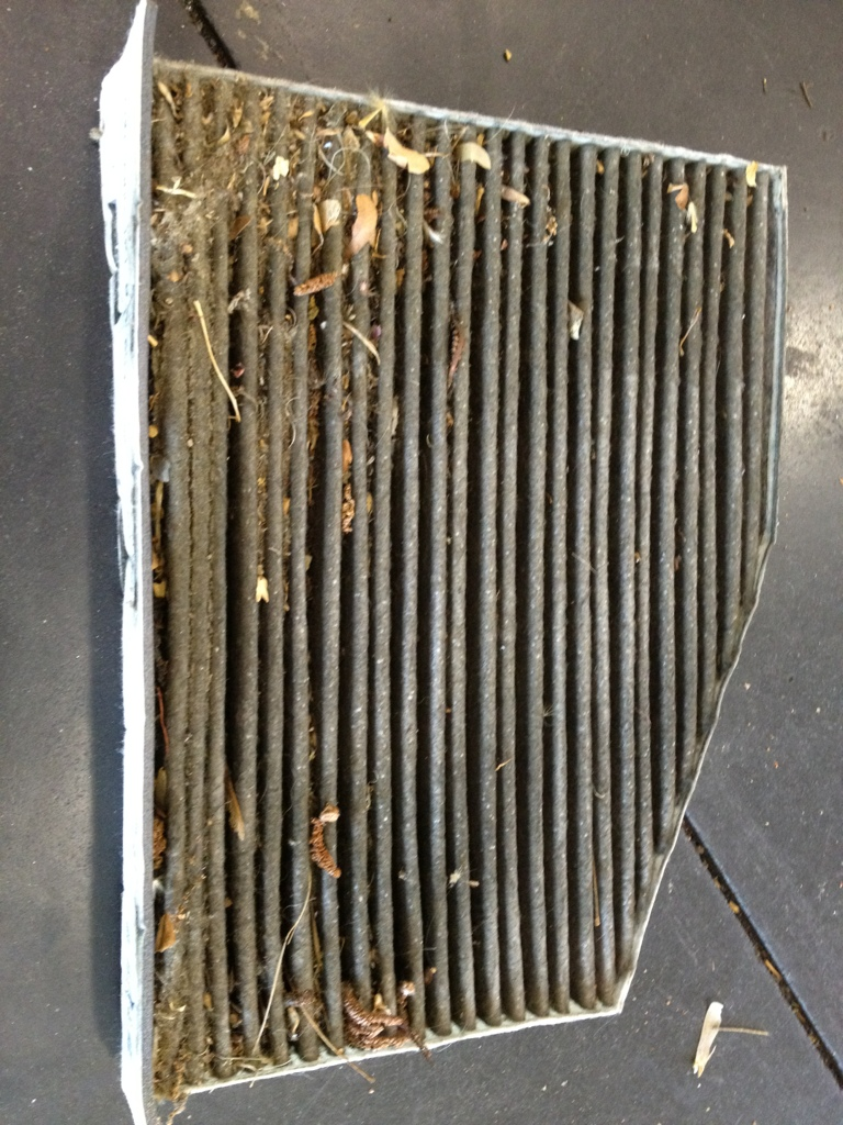 Clogged VW pollen filter