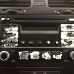 Volkswagen radio button pealing