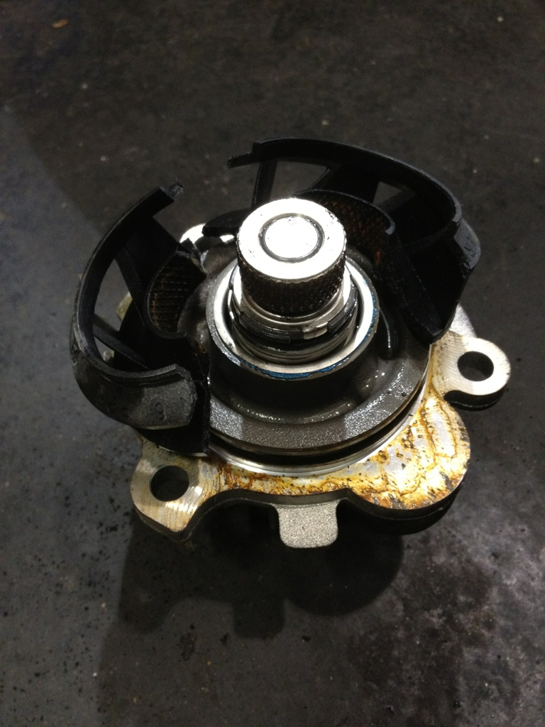 Failed Volkswagen water pump