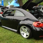 VW beetle on air bags at Southern Worthersee