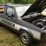 Volkswagen caddy pick up at Southern Worthersee SOWO