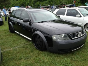 lowered Audi allroad at Southern Worthersee