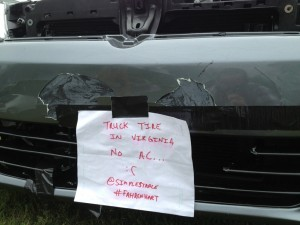 VW damage at Southern Worthersee