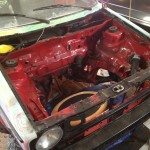 Stripped MK1 Cabriolet engine bay
