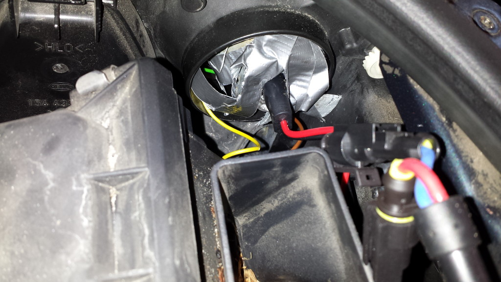 automotive repair with duct tape