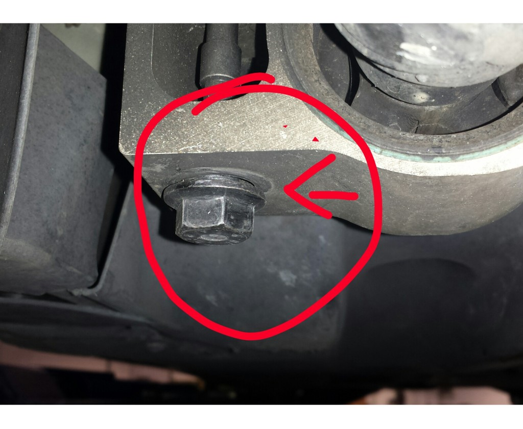wrong bolt installed