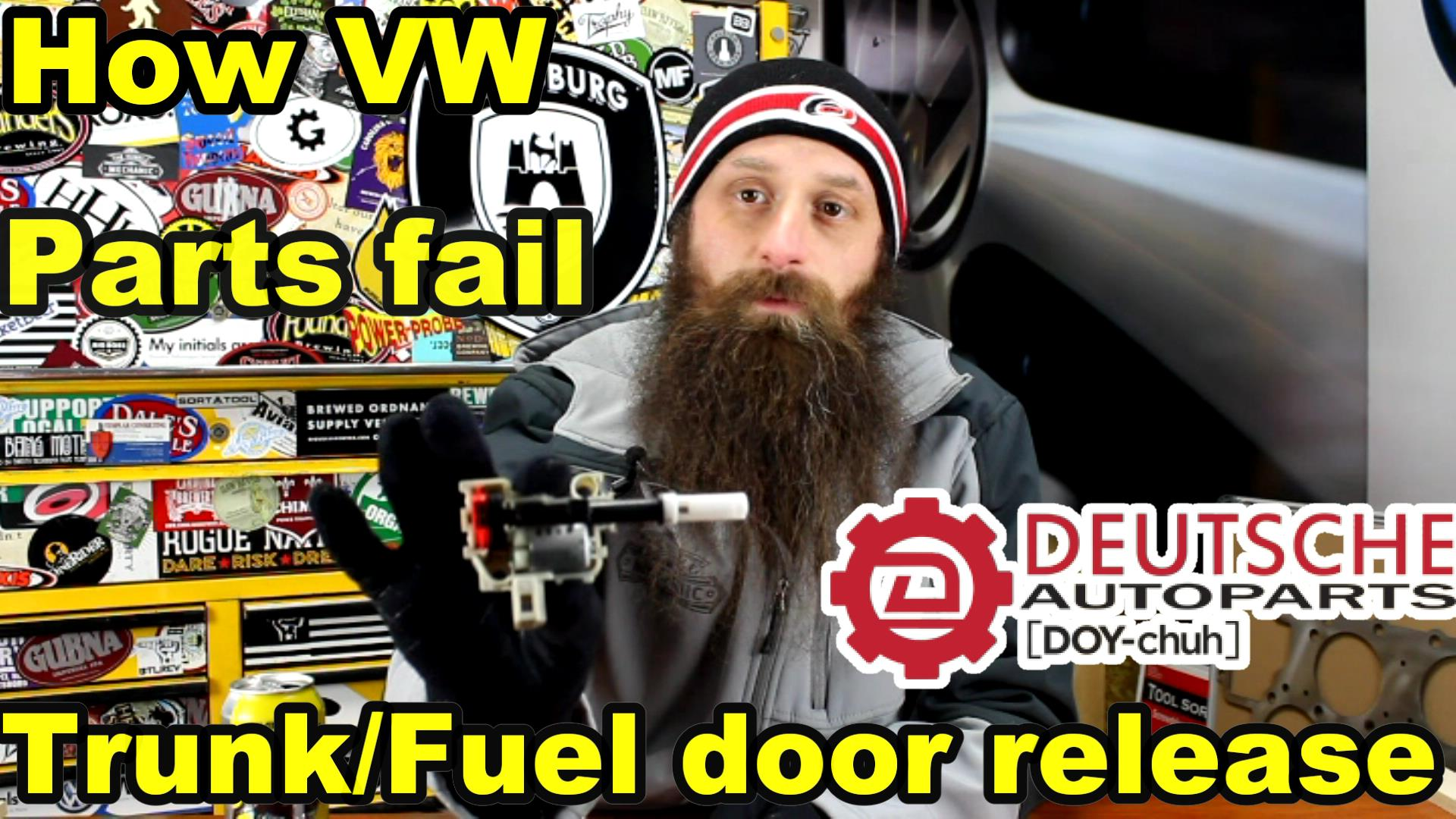 How The VW Trunk and Fuel Door Release Motor Fails