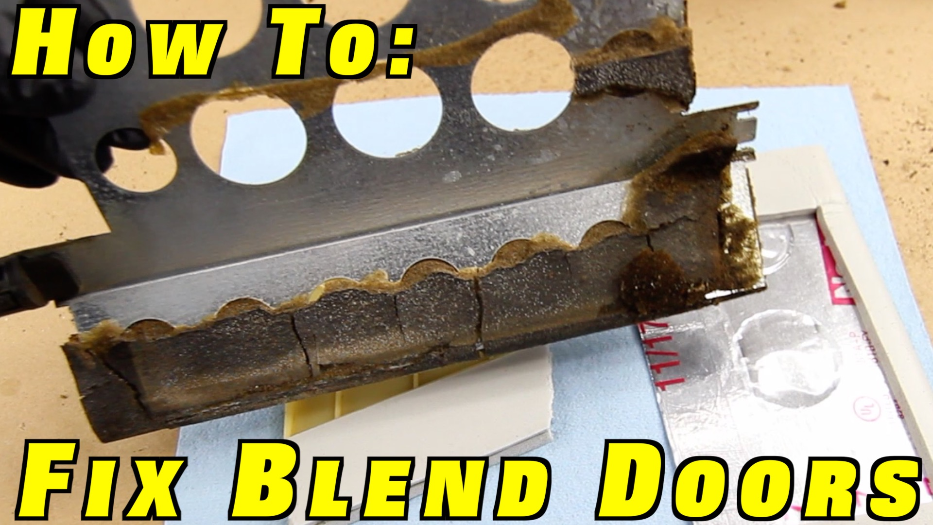 How To Fix Blend Doors ~ Install a Heater Core and Reseal The HVAC Box