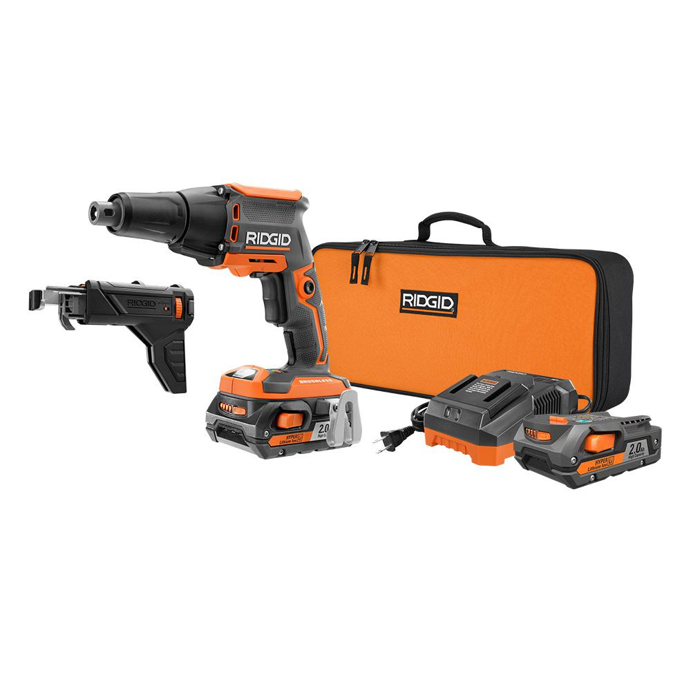 Ridgid Brushless 18v Drywall Screwgun Kit