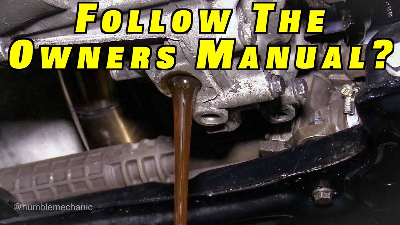 Should You Follow Your Owners Manual for Maintenance?