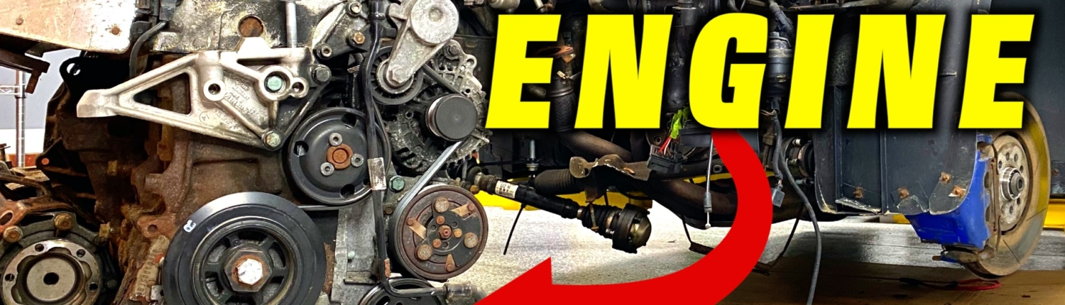 R32 Engine and Transmission Removal ~ Time for an Engine Rebuild