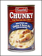 Chunky Soup, Baked Potato w/ Cheddar & Bacon Bits