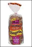 Thomas' New York Style Cinnamon Raisin Swirl Bagel