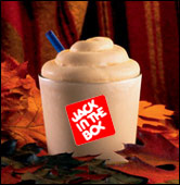 Jack in The Box Pumpkin Pie Shake