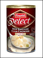 Campbell's Select 98% Fat Free New England Clam Chowder