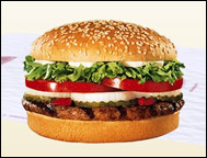 Burger King's Whopper w/ cheese