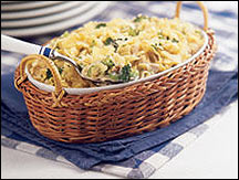 Average Tuna Noodle Casserole in Creamy Sauce
