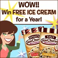 Win FREE Ice Cream for a Year...Weeeee!