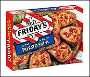 T.G.I. Friday's Frozen Snacks: Potato Skins, Cheddar & Bacon