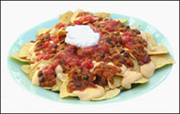 HG's Ooey Gooey Chili Cheese Nachos