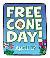B & J's = Free Cone Zone!