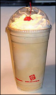 Jack in the Box Chocolate Ice Cream Shake
