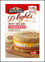 Jimmy Dean D-Lights Sandwich - Canadian Bacon, Egg White & Cheese
