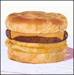 Average Fast-Food Breakfast Sandwich